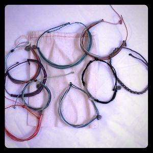 Pura Vida bracelets and anklet set